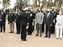 Presidente de la República, Luis Lacalle Pou, encabeza el acto por el 203.° aniversario de la Armada Nacional