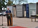Ministro de Defensa, Javier García, en donación de equipamiento militar proveniente de China