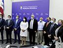Autoridades en inauguración de Centro Quirúrgico Pediátrico del hospital Pereira Rossell
