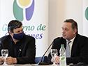 Intendente de Canelones, Tabaré Costa, y secretario de la Presidencia, Álvaro Delgado