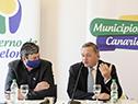 Intendente de Canelones, Tabaré Costa, y el secretario de la Presidencia, Álvaro Delgado
