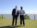 Presidente de la República, Luis Lacalle Pou, se reunió con mandatario argentino, Alberto Fernández, en la estancia de Anchorena