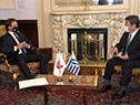 Encuentro entre el presidente Luis Lacalle Pou y el canciller japonés, Toshimitsu Motegi