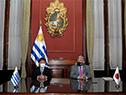 Toshimitsu Motegi  y Francisco Bustillo firman acuerdo de asistencia mutua y de cooperación en materia aduanera