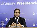 Presidente Luis Lacalle Pou en conferencia de prensa