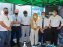 """Inauguración de de la unidad de hisopados nasofaríngeos PCR gratuitos en la playa Brava de Punta del Este, en la zona de """"Los dedos"""""""