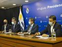 Autoridades de la salud en conferencia de prensa