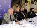 Autoridades en presentación de programa mediante el cual el Plan Ceibal capacitará a 150 funcionarios del Ministerio de Defensa