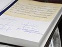Firmas en el libro de actas