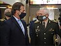 Luis Lacalle Pou en la asunción del jefe del Estado Mayor de la Defensa, Gustavo Fajardo