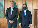 Presidentes Luis Lacalle Pou y Jair Bolsonaro