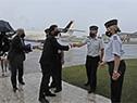 Llegada del presidente Luis Lacalle Pou a la Base Aérea