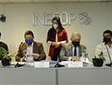 Ministro de Educación y Cultura, Pablo da Silveira, y director general de Inefop, Pablo Darscht, encabezan la firma del convenio