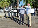 Autoridades del MTOP en recorrida por el puerto de Nueva Palmira