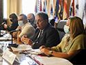 Autoridades del MInisterio de Cultura en el Congreso de Intendentes