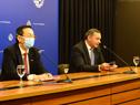 Conferencia de prensa del secretario de Presidencia, Álvaro Delgado y el embajador de China, Wang Gang