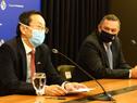 Conferencia de prensa del secretario de Presidencia, Álvaro Delgado, y del embajador de China, Wang Gang
