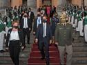 Salida del Presidente Luis Lacalle Pou del Palacio Legislativo