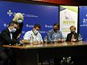 Autoridades de ASSE y Mevir en firma de convenio