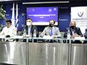 Autoridades en conferencia de prensa