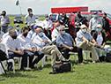 Autoridades nacionales en cosecha de arroz 2021