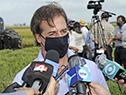 Presidente Lacalle Pou en declaraciones a la prensa