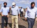 Recorrida del presidente Luis Lacalle Pou por las obras en el canal Andreoni