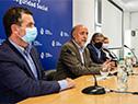Autoridades del Ministerio de Trabajo y Seguridad Social en conferencia de prensa