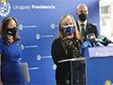 Conferencia de prensa de los integrantes de la delegación del Gobierno de Estados Unidos