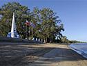 Obelisco que recuerda el desembarco en la playa de la Agraciada