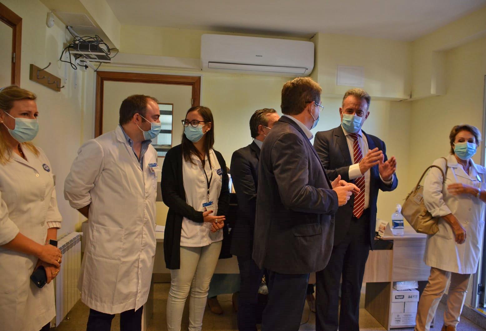Inauguración de nuevo vacunatorio en el Centro Auxiliar de Santa Lucía, Canelones