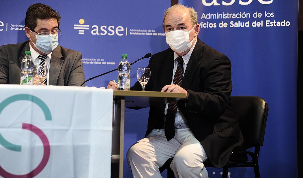 Autoridades, durante la conferencia de prensa sobre la cooperación técnica brindada por el Centro Médico Sheba de Israel