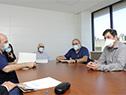 Recorrida de especialistas israelíes en tratamiento de COVID-19, junto a autoridades, por las instalaciones del Hospital Maciel