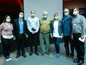 Delegación del hospital Sheba de Israel junto a autoridades