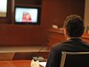 Prosecretario de Presidencia de la República, Rodrigo Ferrés, durante la videoconferencia