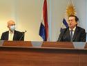 Prosecretario de Presidencia de la República y presidente de la AUCI, Rodrigo Ferrés, junto al director ejecutivo Mariano Berro