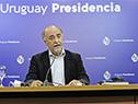 Ministro de Trabajo y Seguridad Social, Pablo Mieres, en conferencia de prensa