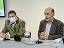 Ministro de Trabajo y Seguridad Social, Pablo Mieres, junto al director general del Inefop, Pablo Darscht