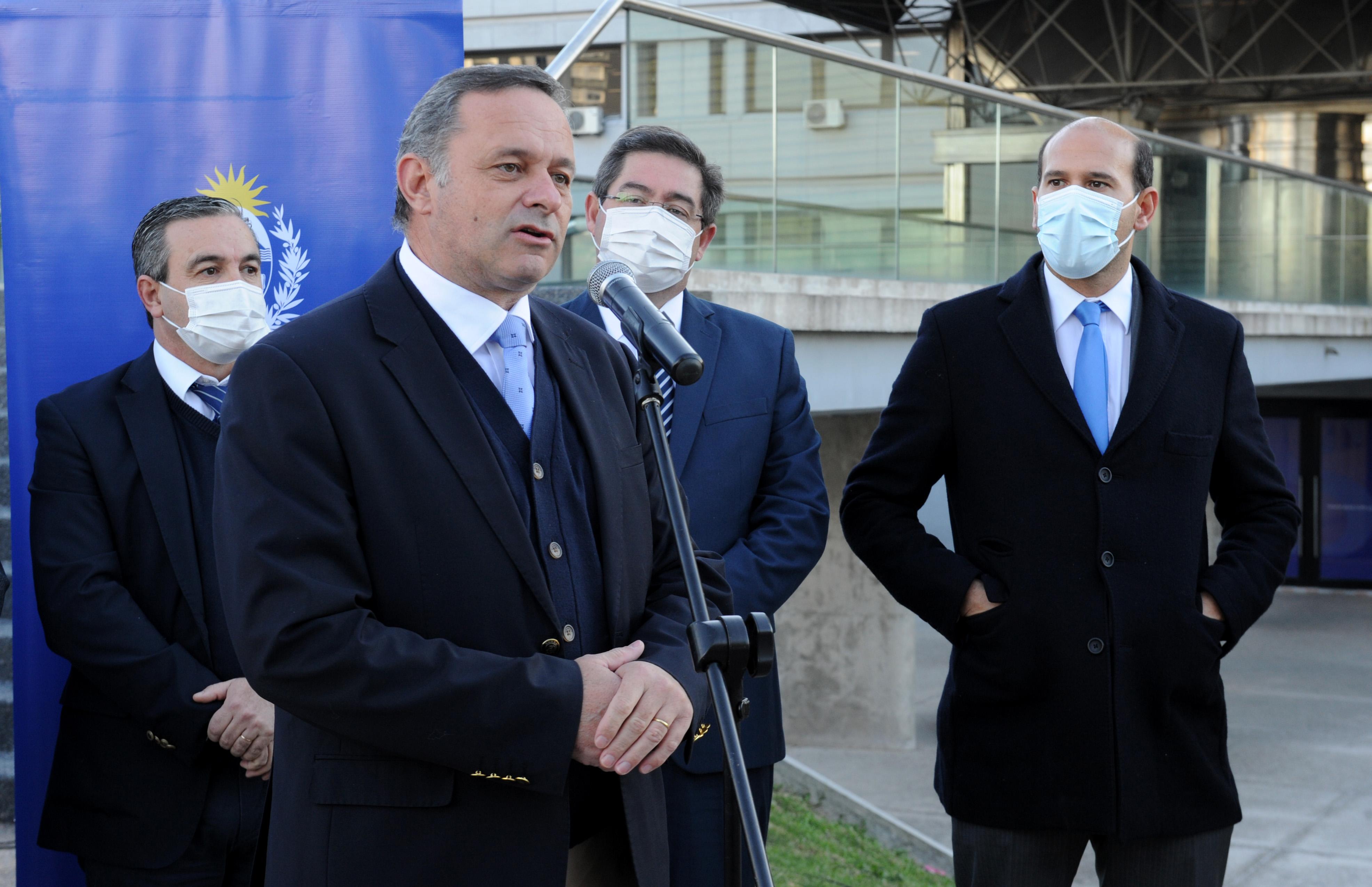 Ministro de Desarrollo Social, Martín Lema se dirige a los presentes