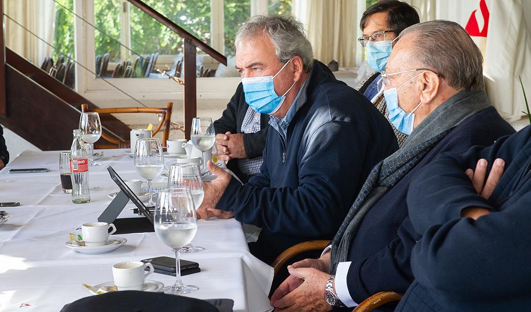 Ministro Heber, intendente de Maldonado, Enrique Antía, y titular de ANP, Juan Curbelo, encabezaron anuncio de obras en puerto de Punta del Este