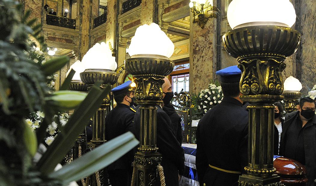 Velatorio del ministro del Interior, Jorge Larrañaga