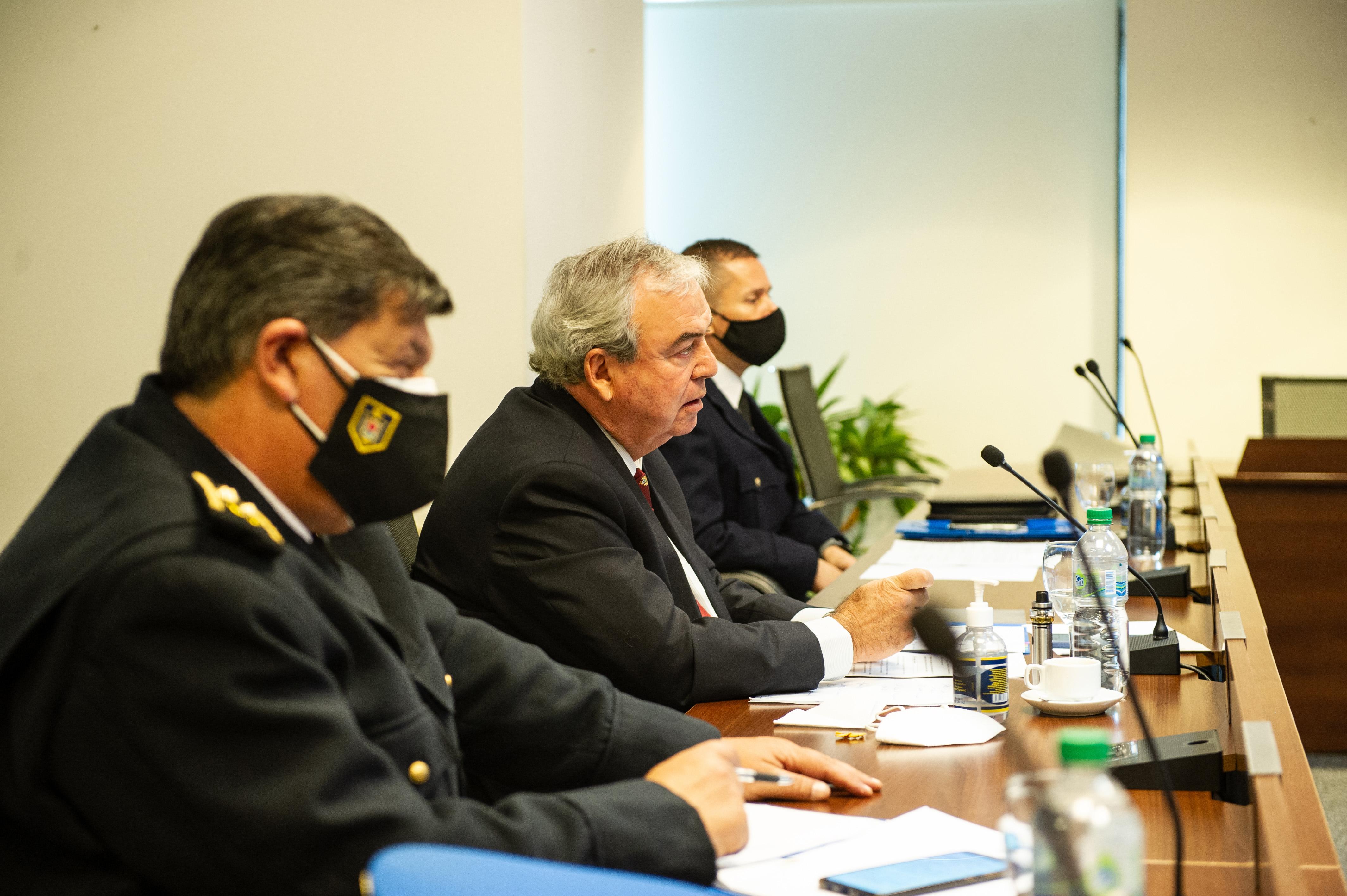 Ministro Luis Alberto Heber en reunión de ministros de Seguridad e Interior del Mercosur
