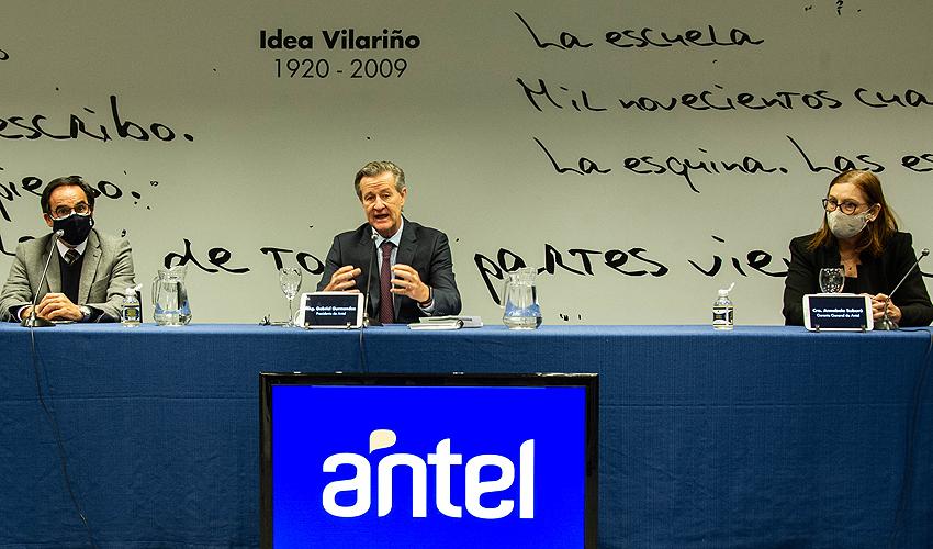 Presidente de Antel, Gabriel Gurméndez, encabezó conferencia de prensa
