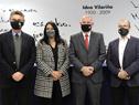 Autoridades luego de finalizada la conferencia de lanzamiento de convocatorias del programa Uruguay Circular