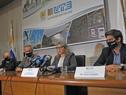 Presidenta de UTE, Silvia Emaldi, encabezó conferencia de prensa