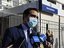 Visita del subsecretario del Ministerio de Salud Pública, José Luis Satdjian, por vacunatorio