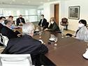 Reunión del secretario de Presidencia, Álvaro Delgado, con ministros de Interior, Salud Pública, Trabajo y la intendenta de Montevideo