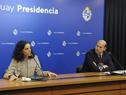 Ministra de Economía y Finanzas, Azucena Arbeleche, y ministro de Desarrollo Social, Martín Lema