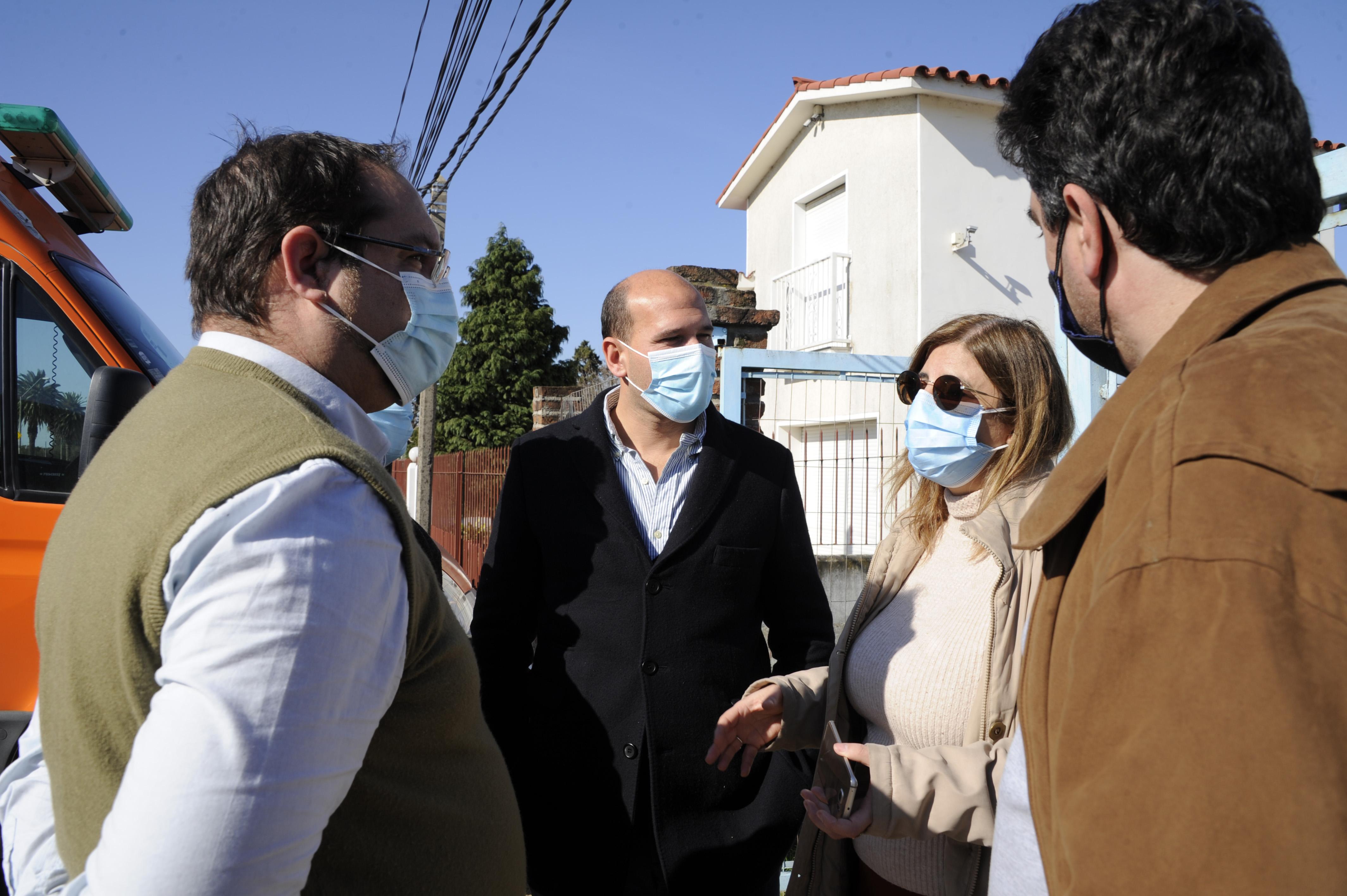 Ministro de Desarrollo Social, Martín Lema, en jornada de vacunación en Ciudad del Plata