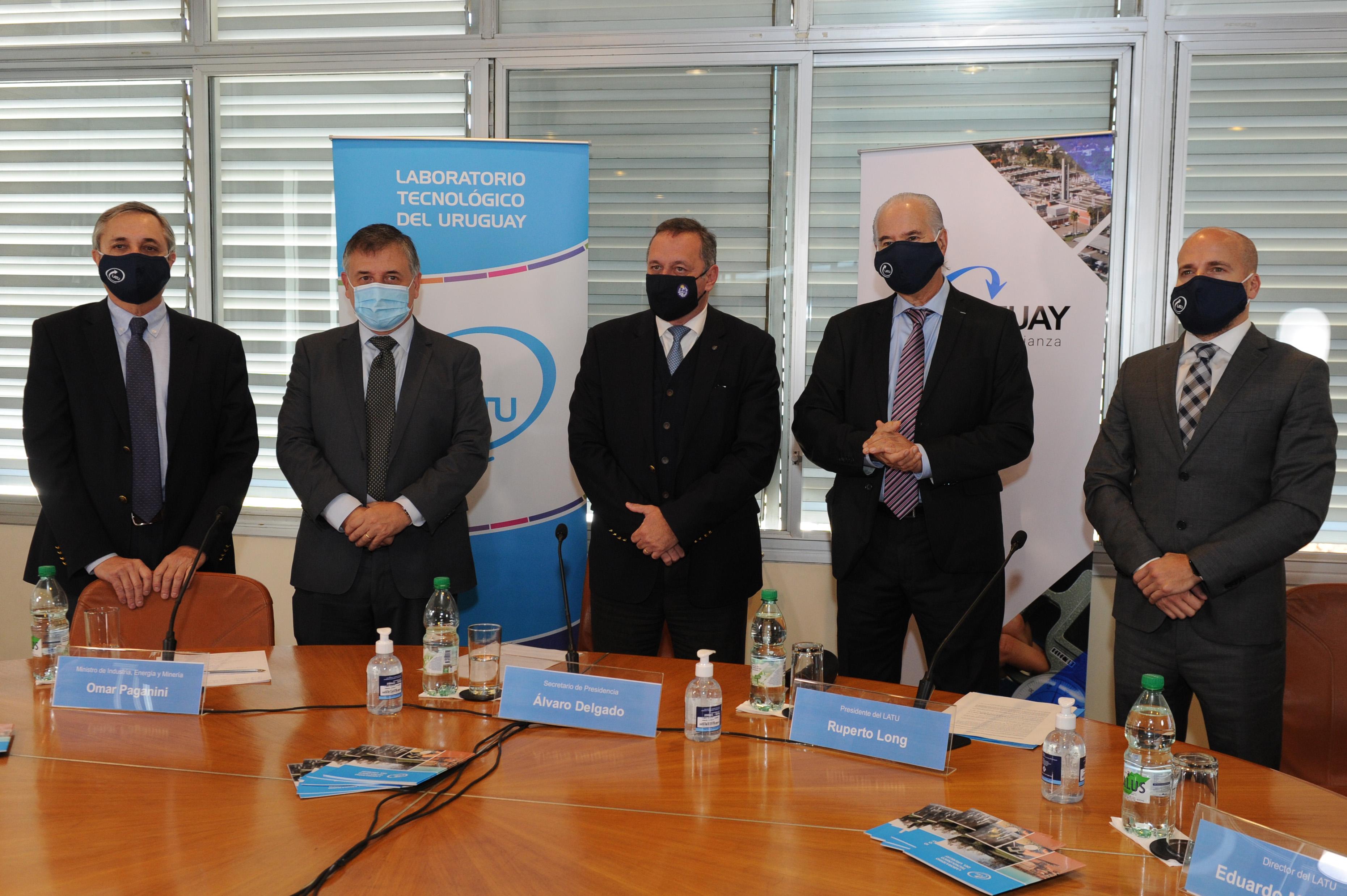 Autoridades, en lanzamiento de programa LATU Uruguay